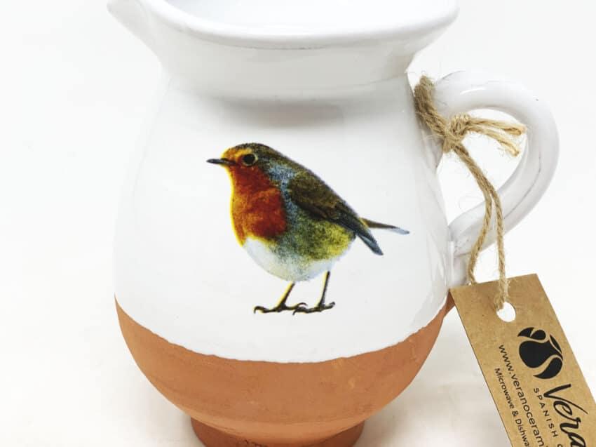 Verano Ceramics Rustic Robin Mini Jug 3
