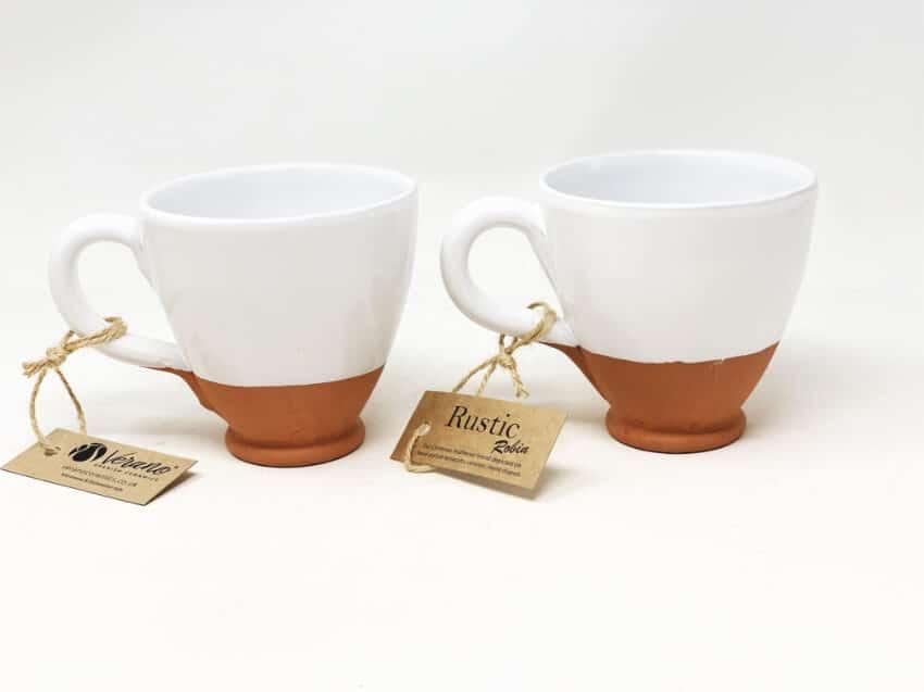 Verano Ceramics Rustic Robin Round Based Cups 2