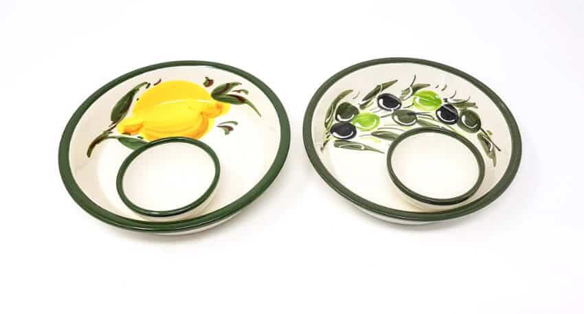 Buena Vida - Hand Painted Olive Dishes