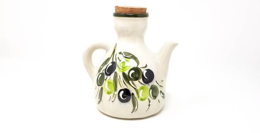 Verano Spanish Ceramics Buena Vida Collection Olive Drizzler Olive