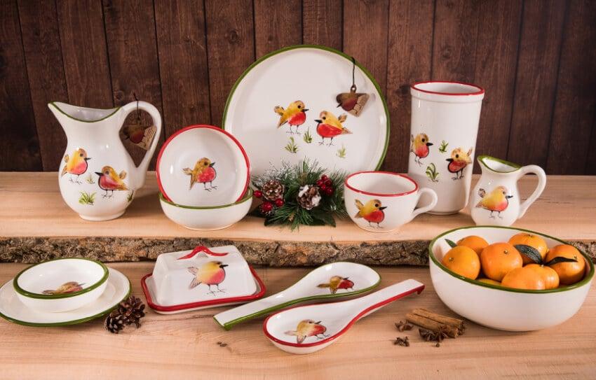 Verano Spanish Ceramics Christmas Robin Ceramic Collection Robin 2 2018