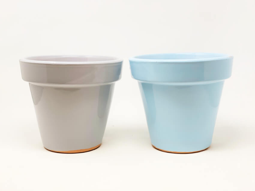 Pastel Hand Dipped Terracotta Pots
