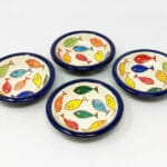 Signature - Coloured Fish - Sets Of 4  Mini Tapas Bowls 10Cm