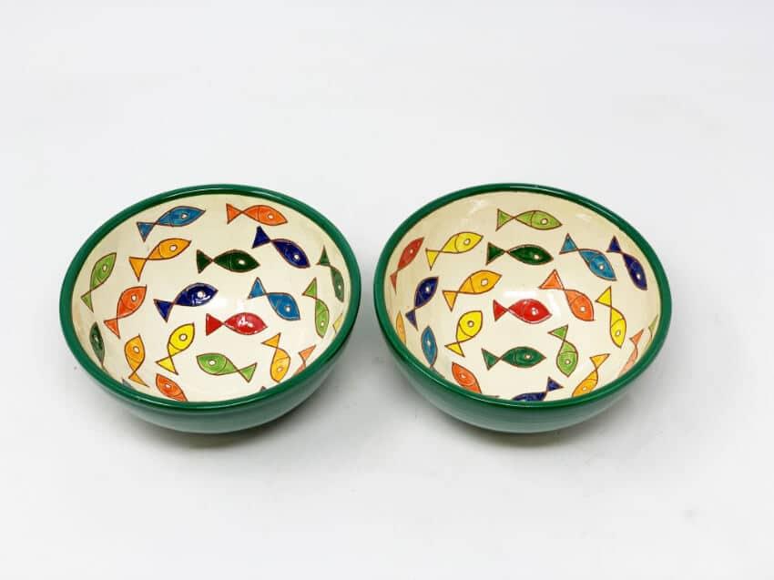 Verano Spanish Ceramics Signature Coloured Appetiser Bowls 1