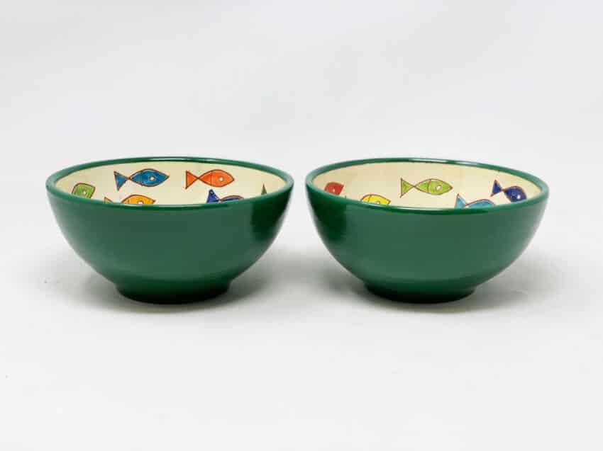 Verano Spanish Ceramics Signature Coloured Appetiser Bowls 3