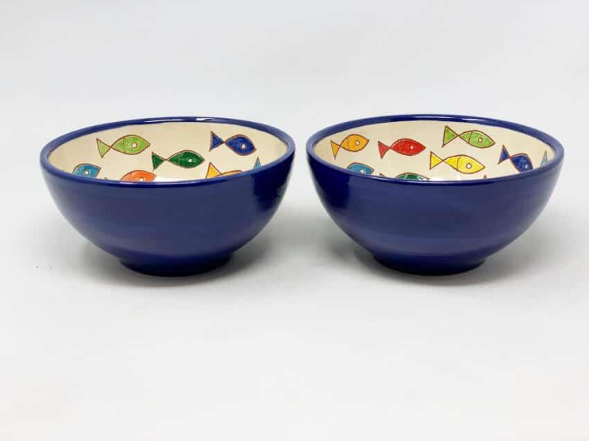 Verano Spanish Ceramics Signature Coloured Appetiser Bowls 6