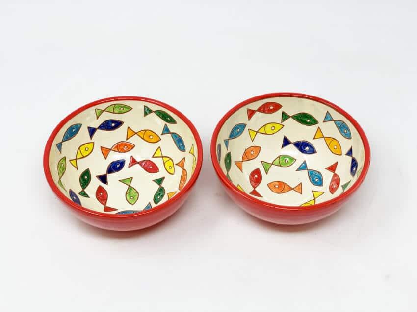 Verano Spanish Ceramics Signature Coloured Appetiser Bowls 7