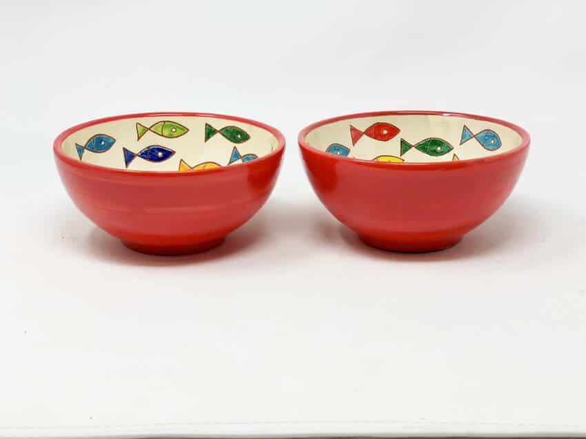 Verano Spanish Ceramics Signature Coloured Appetiser Bowls 9