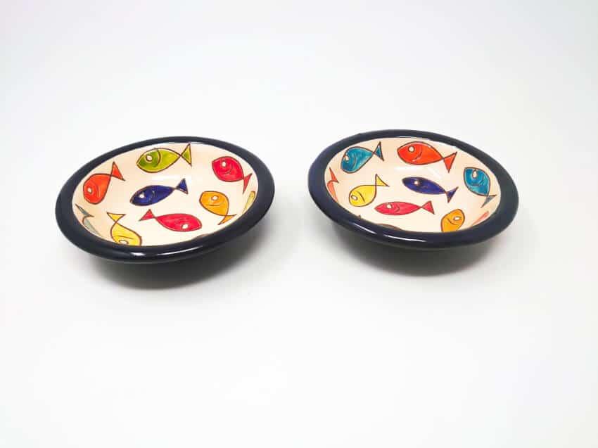 Signature - Coloured Fish - Set Of 2 Tapas Bowls 12Cm