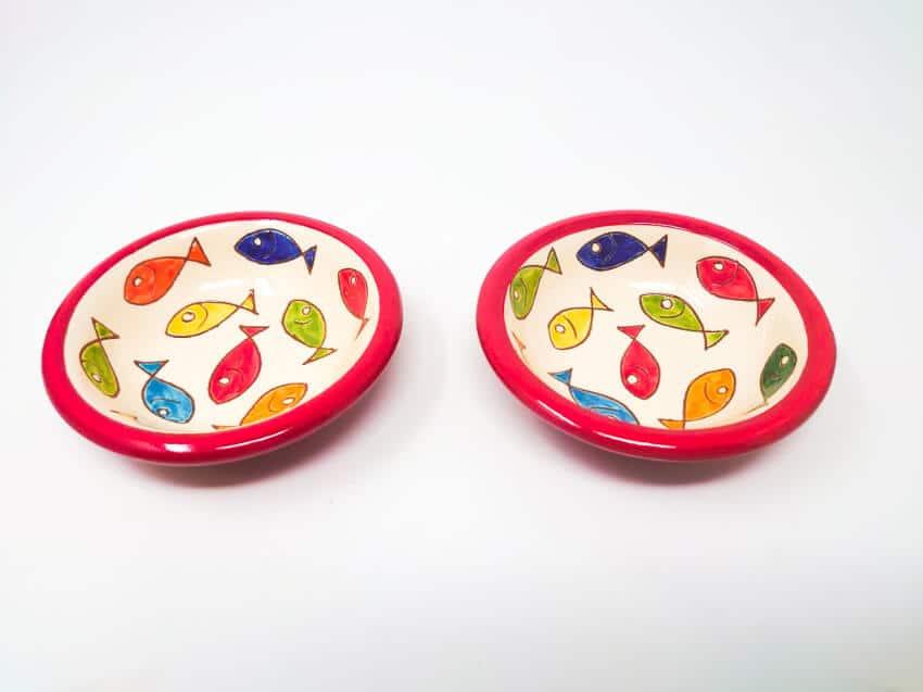 Verano Spanish Ceramics Signature Coloured Fish 12cm Tapas Bowls 2
