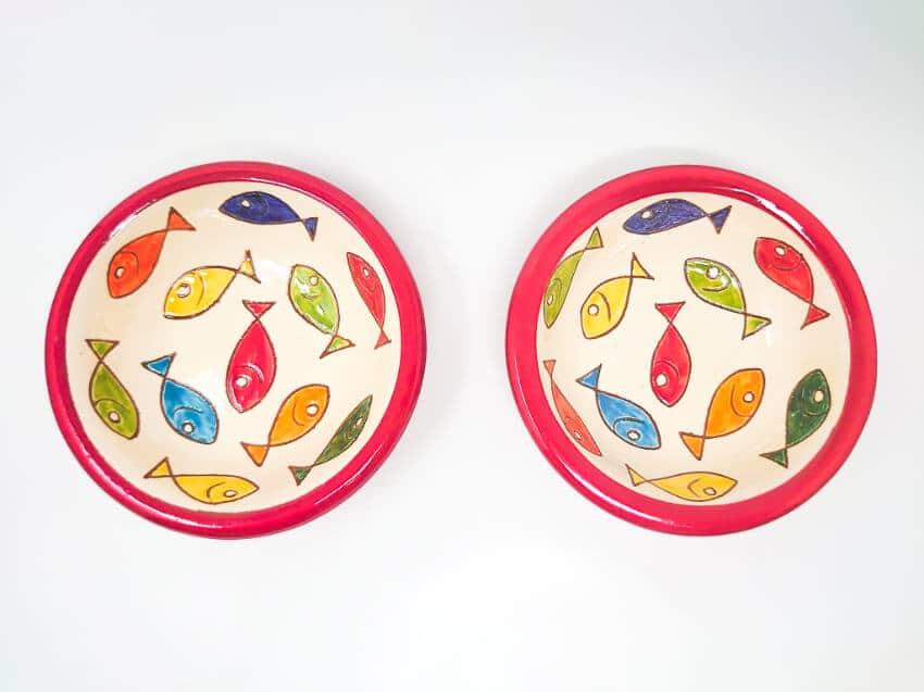 Verano Spanish Ceramics Signature Coloured Fish 12cm Tapas Bowls 4