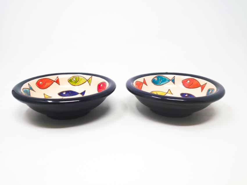 Verano Spanish Ceramics Signature Coloured Fish 12cm Tapas Bowls 5