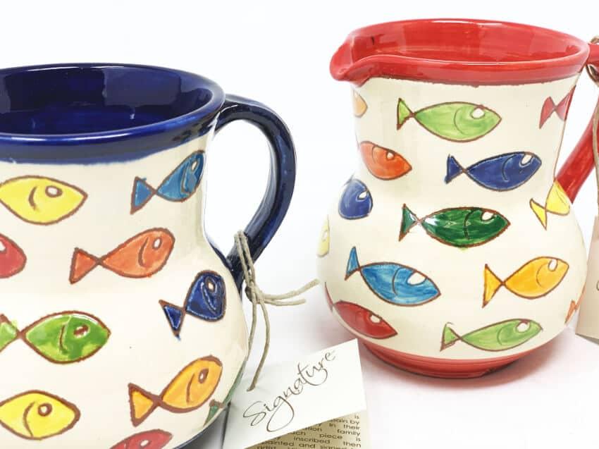 Verano Spanish Ceramics Signature Coloured Fish Small Jug 2