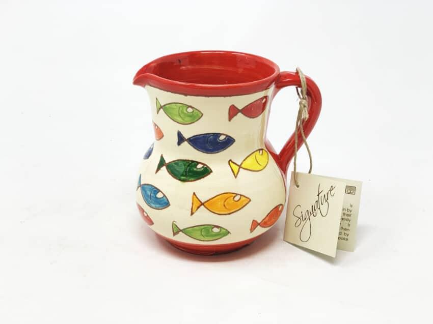 Verano Spanish Ceramics Signature Coloured Fish Small Jug 3