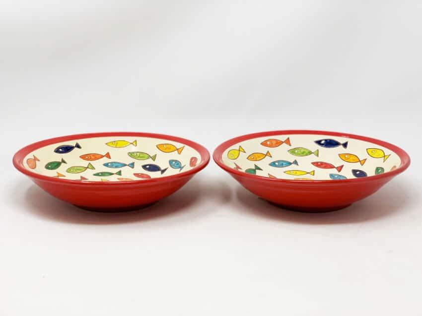 Verano Spanish Ceramics Signature Coloured Pasta Bowls 2
