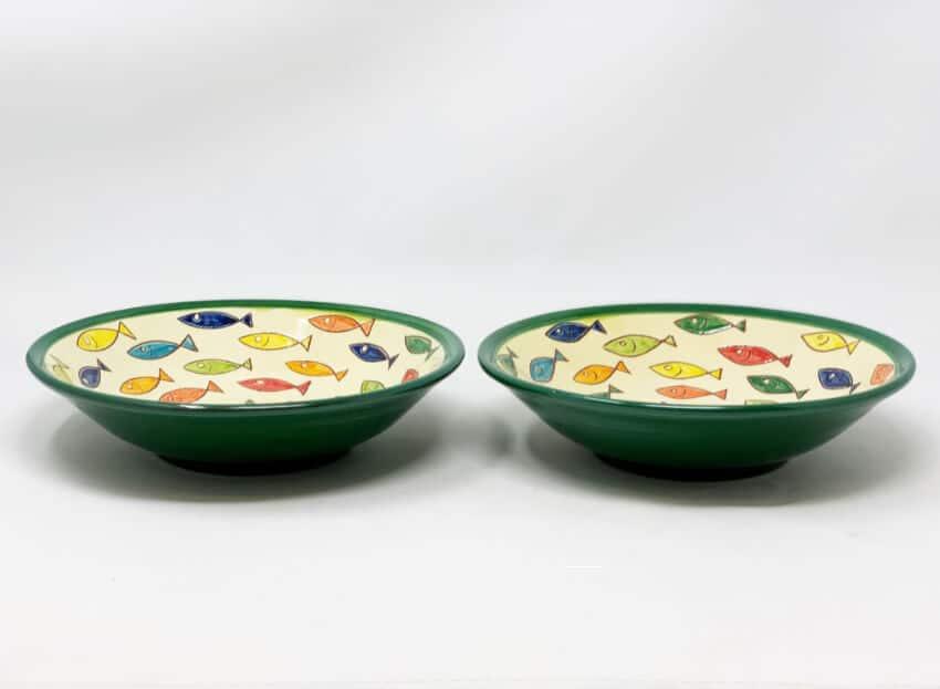 Verano Spanish Ceramics Signature Coloured Pasta Bowls 4