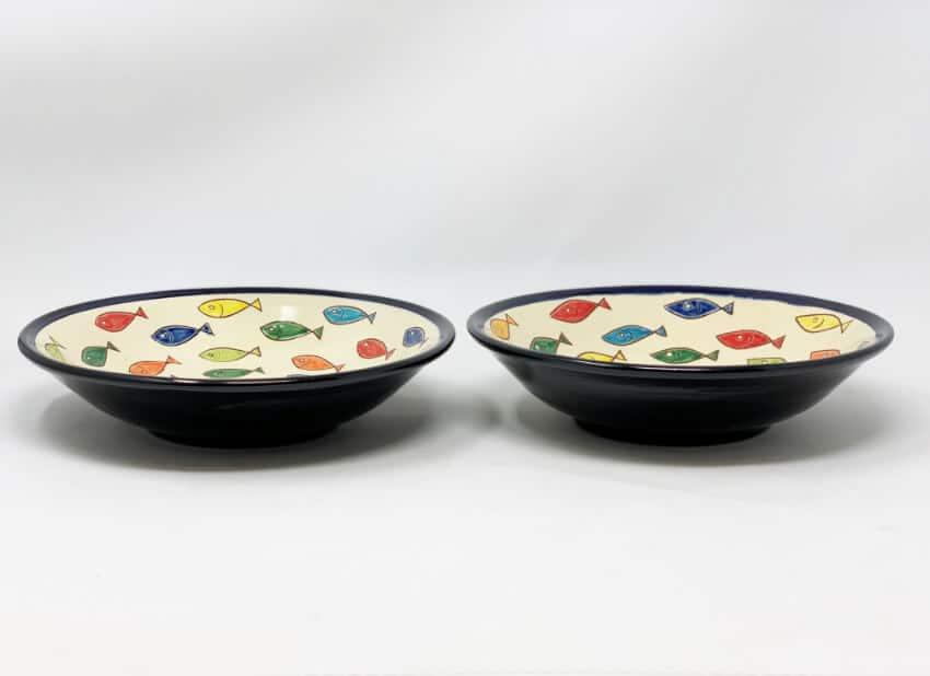 Verano Spanish Ceramics Signature Coloured Pasta Bowls 6