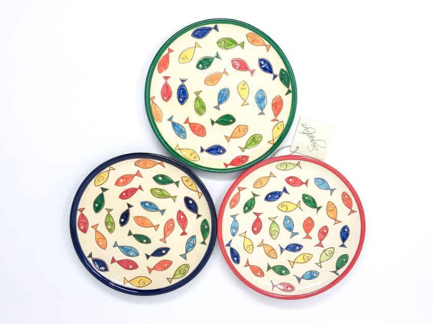 Signature - Sets Of 2 Coloured Fish Small Plates