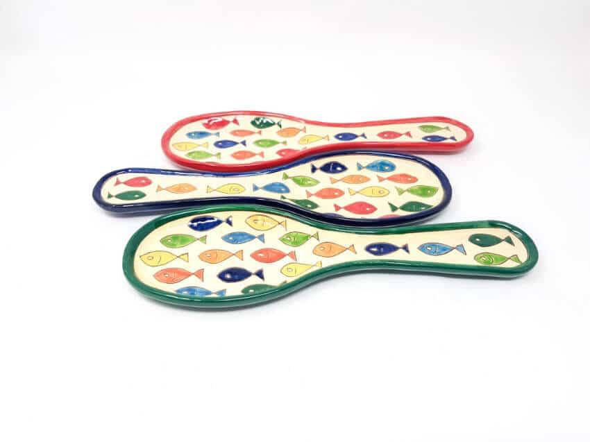 Verano Spanish Ceramics Signature Coloured Spoon Rest 8