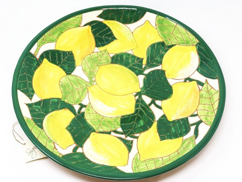 Verano Spanish Ceramics Signature Lemons Large Platter 4