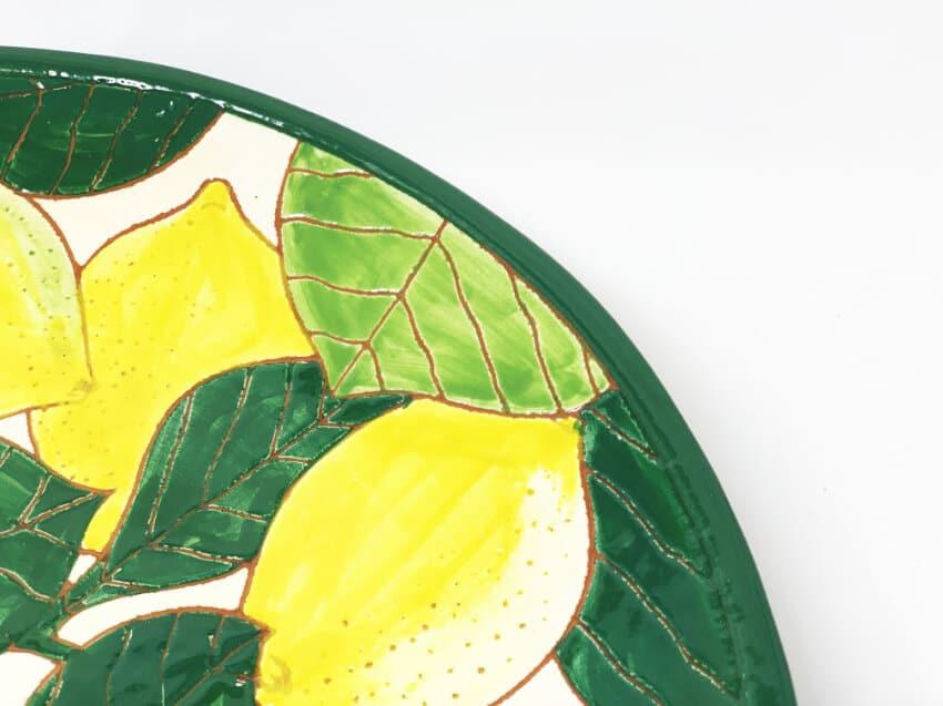Verano Spanish Ceramics Signature Lemons Large Platter 5